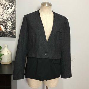 Vera Wang Women's Thin Blazer Sz PXL Gray & Black